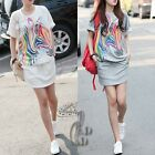 Casual Batwing Sleeve Sport Hippie Pocket leisure Dress/Long Top Tee dr011