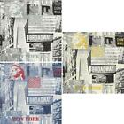 ARTHOUSE OPERA BROADWAY NEW YORK THEMED WALLPAPER BLACK WHITE YELLOW BLUE RED