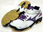 Mizuno Japan Women's WAVE STARDOM WP3MD Volleyball Shoes 9KV365 White Purple
