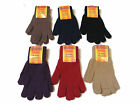 WOMENS LADIES COLOUR COLOURED THERMAL KNITTED WINTER STRETCH GLOVES - NEW
