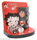 Betty Boop Heart Shaped Key ring with Epoxy Picture choice of Styles