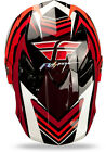 2014 Fly Racing Formula STRYPER Carbon Fiber HELMET Red & White BMX MX MOTO ATV