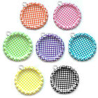Double-sided flat/flattened POLKA DOT bottle caps with RINGS