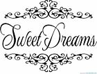 Sweet Dreams a Vinyl Wall Art Sticker in any of 24 Colours Bedroom Stickers Big