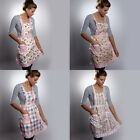 COOKING ADULT APRON FLORAL PINNY LINED VINTAGE POCKET FANCY DRESS HEN NIGHT