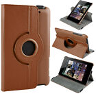 360 Rotate PU Leather Folio Stand Cover Case for ASUS Google Nexus 7 2012 & 2013