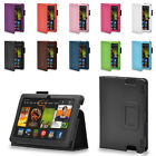 """LEATHER CASE COVER FOR AMAZON KINDLE FIRE HDX 7"""" WITH SCREEN PROTECTOR & STYLUS"""