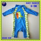 New BABY BOY BATHERS Rashsuit Swimsuit Sun Suit Sz 6 9 Mths Rashie Swiwwear