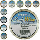 Twisted Square 1/2 Round Bead Smith Wire Soft Tempered 18-21 gauge 6 colors