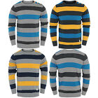 Mens Jumper Sweatshirt Crosshatch Striped Pullover Button Casual Winter Knitted