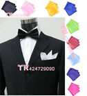 New Solid Vintage Style Party Men's Handkerchief Groomsmen Pocket Square Hanky