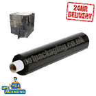 BLACK 400MM X 250M PALLET SHRINK WRAP EXTENDED CORE 17 MICRON HEAVY DUTY 24 HOUR