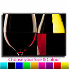 Wine Bottle & Glass Canvas Art Print Box Framed Picture 9