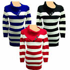 women ladies jumper warm jumper long sleeve tops knitted dress tunic  knitwear