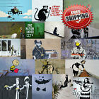 "Banksy Graffiti Poster Print Wall Art Premium Collage (k) Picture Photo 14""x10"""