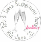 PERSONALISED ENGAGEMENT CHAMPAGNE GLASS STICKERS SEALS GIFT FAVOUR INVITES ENG10