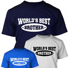 THE WORLD'S BEST BROTHER - Mens T SHIRT - Birthday or Christmas Gift Worlds