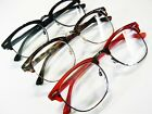 2Pr Deal Browline Clubman Hornrim Reading Glasses Black Red Tortoise Geek-Style