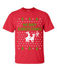 Merry Christmas Reindeer Humping Ugly Sweater  Men's TShirt  2 COLOR B114
