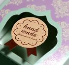 Cute Medal Sticker for Handmade Products,  Hand Made sticker seal Sticker 600pcs