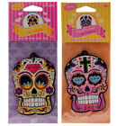 Day of the Dead Skull Shaped Home or Car Air Freshener: Lemon or Cherry Scents