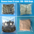 Poly Plastic Clear Lay-Flat Bags 1-Mil 100 500 1000 Open Top Packing Baggies