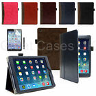 PU LEATHER SMART WALLET STYLE CASE COVER FOR ALL NEW APPLE IPAD AIR + PEN GUARD