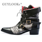 Designer Homme Vintage Leather Vampire Mod Mens Ankle Western Boots By Guylook