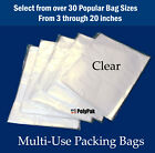 Clear Plastic Poly Multipurpose Bags 1-Mil Flat Open Top Baggies