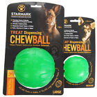 Brand New Starmark Treat Dispensing Chew Dog Toys Ball Extremely Durable Soft