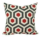 Red and Dark Gray Decorative Throw Pillow, Magna Timberwolf Red Accent Pillow
