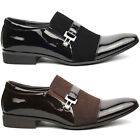 Men's Slip On Loafers Formal and Casual Black , Brown Patent UK 6 - 11 Brand New