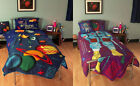 Kids Single Duvet Cover Science Museum Planet / Astronaut Space Man Reversible