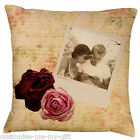 Photo Cushion | Vintage Love | Valentine | Birthday | Wedding | Anniversary Gift