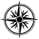 (C-2) TRIBAL COMPASS ROSE NAUTICAL STAR CAR BOAT BIKE WINDOW VINYL DECAL STICKER