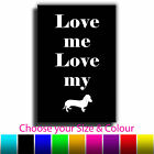 Quote Art I Love My Dog Canvas Print Box Framed Picture