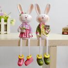 Large sitting rabbit lovers, leg hanging dolls