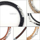 Kyпить Sterling Silver 4mm Braided Genuine Leather Cord Necklace/Bracelet Lobster Clasp на еВаy.соm