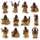 Gold & Brown Lucky Laughing Chinese Buddha Figures; Good Luck, Wealth: 5 - 7.5cm