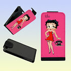 BETTY BOOP PERSONALISED PU LEATHER FLIP CASE iPHONE 4 and iPHONE 5 ANY NAME £8.99 GBP