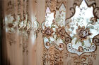 2x Custom Made French Country Provincial Floral Embroidered Window Curtain Panel