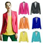 Elegant Ladies Europe Vintage blue and white porcelain Jacket Blazer Suits