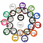 PAIR OF DOG TAG SILENCERS - Military GI Set of 2 Assorted Colors Silicone Rubber