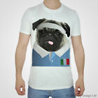 Italy Rugby Tshirt Pug T-shirt Italian World Cup Try Sport White Cute 2017 Wolf