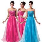 Sequin Flower Pure Color Evening Cocktail Party Prom Dress Grace Karin 6-20