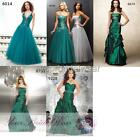 Designer green color plus evening party ball gowns prom dress size 8 12 14 16 18