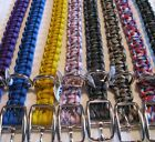"3/4"" Adjustable Dbl. Bar Buckle Paracord Dog Collar - 6 Sizes Available"