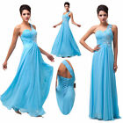 Sexy One Shoulder Women Long Bridesmaid Formal Evening Cocktail Prom Party Dress