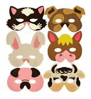 Childrens Farm Animal Masks All Occasions Party Bag Filler Toys Multi Variation
