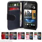New Wallet Flip PU Leather Case Cover for HTC One + Screen Protector M7